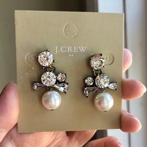JCrew Crystal Pearl Earrings